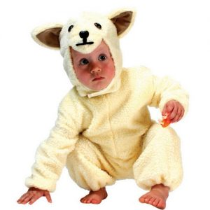 costume pecorella bimbo